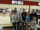 Campers and Counselors at bowling alley
