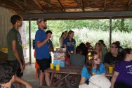 Max, one of our program coordinators during morning meeting