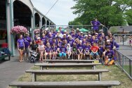 Whole camp photo at seabreeze. Thanks Vision Automotive and Time Warner Cable for our favorite field trip!