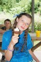 Camper eating ice cream