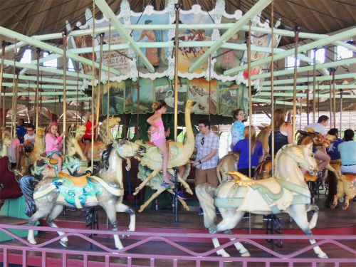 Historic Carousel at Charlotte Beach Park