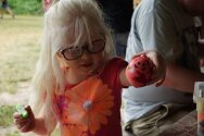 Campers made stress balls