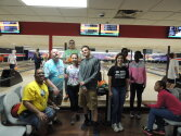 Campers and Counselors at the bowling alley