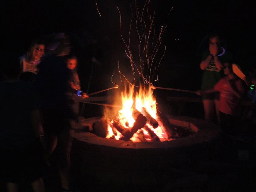 Roasting Marshmallows at Night